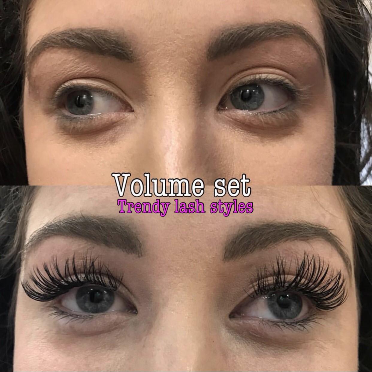 Volume Eyelas Extensions by Trendy Lash Styles - Eyelash ...